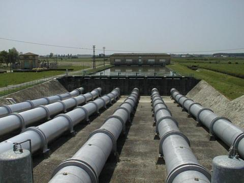 Pumping station for irrigation in the Emilia-Romagna Region (Italy)